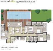 4 BHK+4T+SR Floor Plan