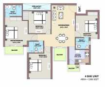 4 BHK 1306 Sq Ft