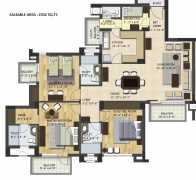 3 BHK 2032 sq.ft