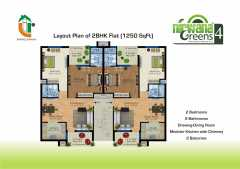 2 BHK	1250 sq. ft.