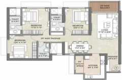 3BHK+3T   	 1935 sq ft