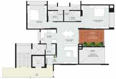 2BHK+2T  1360 sq ft