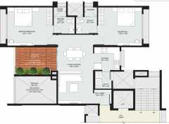 2BHK+2T  1405 sq ft