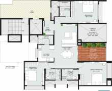 3BHK+3T  1845 sq ft