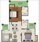 2 BHK+ 2 T  1000 sq.ft
