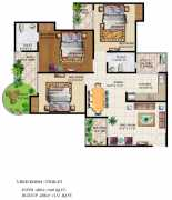 3BHK+2T  1440 sq ft