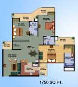 3BR-3T	1750 sq.ft