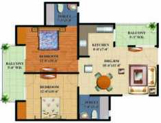 2 BHK + 2T	950 sq.ft