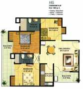 3 BHK +2T	1360 sq.ft