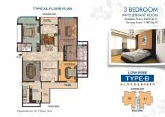 3 bed +3 toilet+Study+servant 2662 sq ft