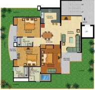 3 BHK   3 T 1750 sq.ft