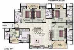 4 BHK+worker- 2250 sq ft