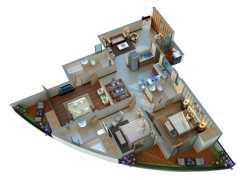 3 BHK  1725 sq.ft