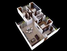 3 BHK	 : 1660 sq. ft
