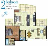 2 BHK	 : 1195 sq. ft