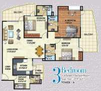 3 BHK	 : 1979 sq. ft