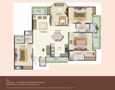 4 BHK	 : 2160 sq. ft