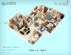 3BHK + S Type A  2285 sq ft.