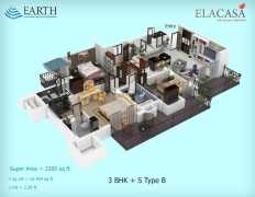 3BHK + S Type B  2285 sq ft.