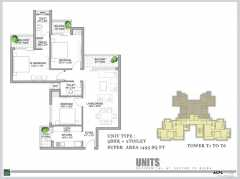 3 BHK + 2Toilets 1495 Sq ft`