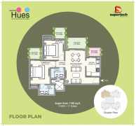 2BHK + 2 Toilets Super Area : 1180 Sq.ft.