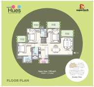 3BHK + 3 Toilets Super Area : 1765 Sq.ft.