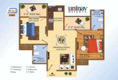 2BHK	895sq.ft