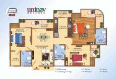 3 BHK 1515 SQ.FT.